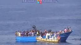 Italian Navy rescue operation