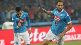 Napoli-Lazio: Higuain festeggia il suo primo gol
