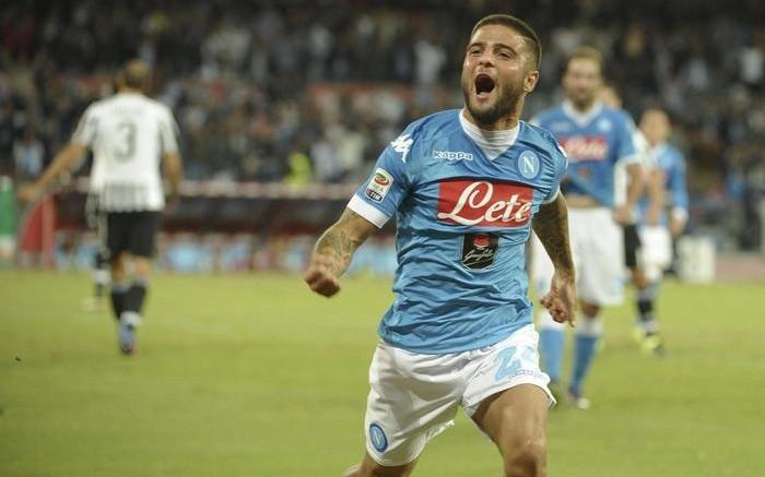 Lorenzo Insigne festeggia dopo il gol (foto Ansa.it)