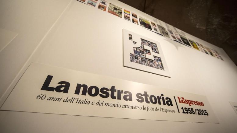 """Al Vittoriano la mostra ''La Nostra Storia'', 60 anni dell'Italia e del mondo attraverso le foto de """"l'Espresso"""""""