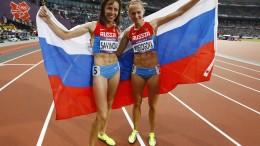 Le russe Savinova e Poistogova alle Olimpiadi di Londra 2012