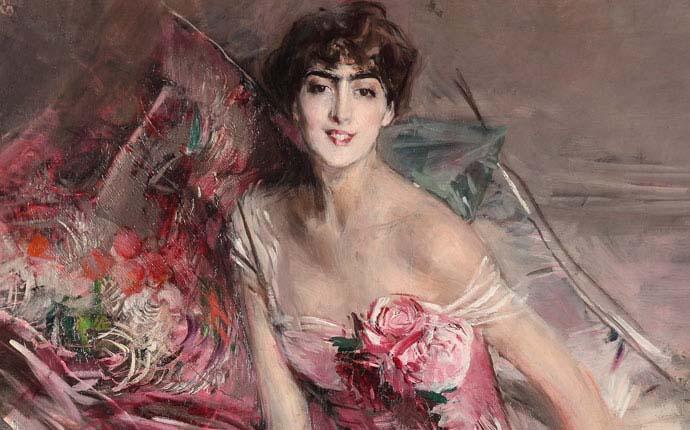 La signora in rosa