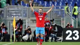 Lazio-Napoli: Gonzalo Higuain festeggia il suo 23mo gol in campionato