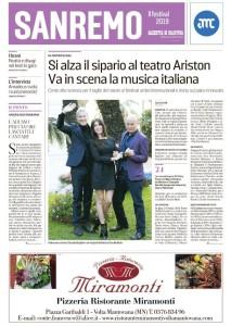 La copertina dell'inserto sul Festival di Sanremo della Gazzetta di Mantova del 3 febbraio 2019