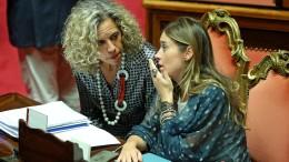 Monica Cirinnà con il ministro Maria Elena Boschi