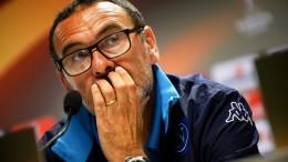 Maurizio Sarri, tecnico del Napoli (foto Ansa.it)