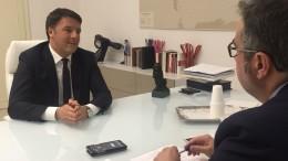 Matteo Renzi durante l'intervista rilasciata all'Agl