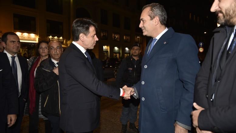 Il premier Conte a Napoli